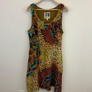 Edme & Esyllte Multi Color Lappula Silk Dress 14